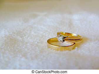 rings - wedding rings great for an invitation or card