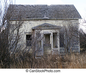 Abandoned House - An old abandoned farm house