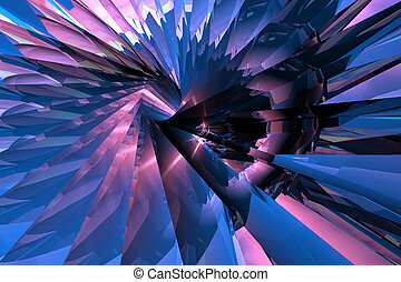 Digital abstract 2 - 3D rendered abstract.