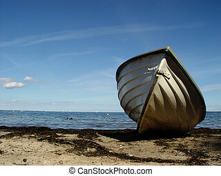 beachboat - rowing boat on a beach