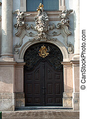 church-door - Digital photo of the door of the curch named...