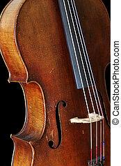 Cello - A cello isolated on black.