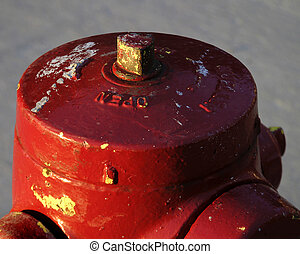 Fire Hydrant - A fire hydrant seen from above