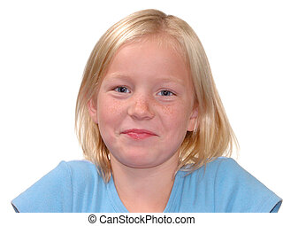 Blonde Smile v1 - Lovely nine year old girl with blonde...