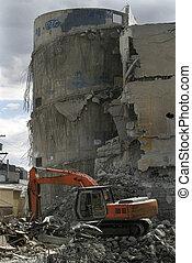 Demolition Parkade - A parkade that is being demolished