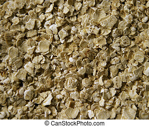 Oatmeal Texture - A close up of oatmeal texture