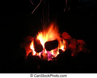 Campfire Shot2 - A nice large glowing campfire shot at low...
