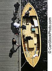 Boat - A norwegian 'snekke' wooden boat.