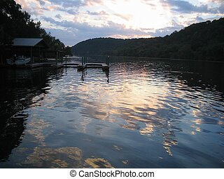 Lake Austin AM - Early morning on Lake Austin in Central...