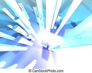 Light towers 1 - High res digital background Modelled and...
