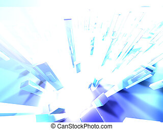Light towers 2 - High res digital background. Modelled and...