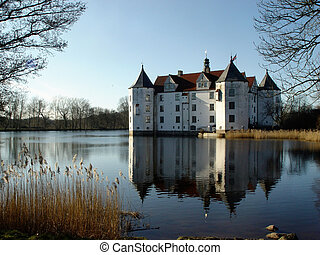 watercastle - in gluecksburg, schleswig-holstein, germany