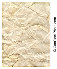 Old Parchment - Wrinkled old parchment paper.