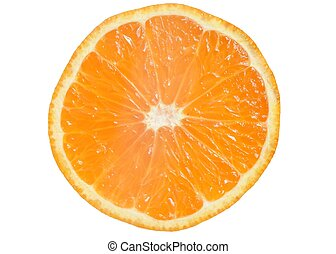 Mandarin Slice - Mandarin slice on white background.
