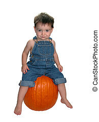 Pumpkin Boy v1 - Soft focus used to make the boy look...