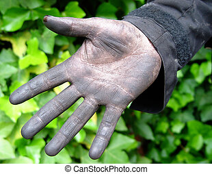 good luck! - chimney sweeper's hand
