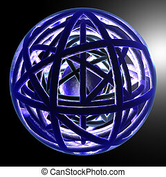 Dynamic Sphere 1 - Abstract 3D render.