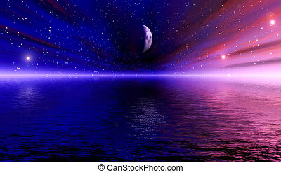 Space Vision - Digital created fantasy/scifi scene.