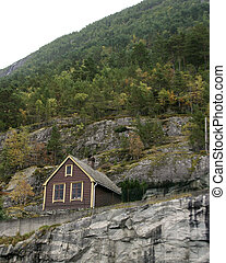 Mountain Cabin - A mountain cabin in the fjords in norway