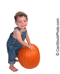 Pumpkin Boy v2 - Soft focus used to make the boy look...