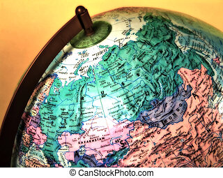 Globe - Photo of a Globe With Blur and Color Effect.