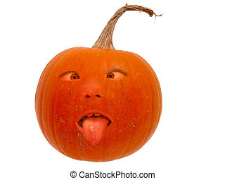 Pumpkin Head v2 - Real pumpkin with a very silly face....