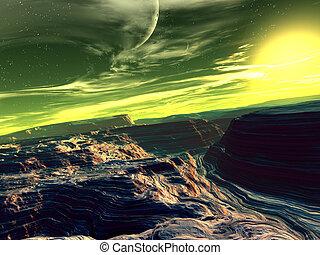 Eridal 2 - 3D rendered Scifi scenery.