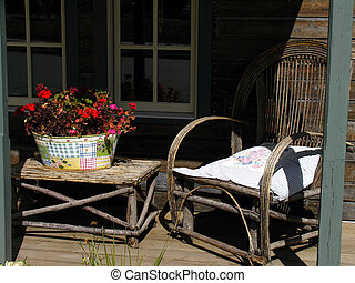 Front Porch - Western store front porch
