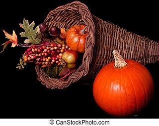 Fall Pumpkin v3 - Fall pumpkin arrangement with a real...