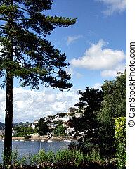 Summer scene. - Kingswear from Dartmouth, Devom, UK.