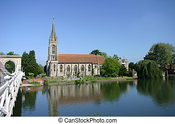 18th century church in Marlow UK