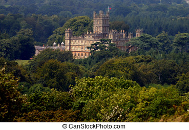 castle in the trees - historic highclere castle hidden...