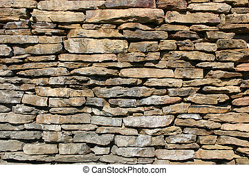 Rock wall 1 - A lovely rock wall built at the entrance to a...