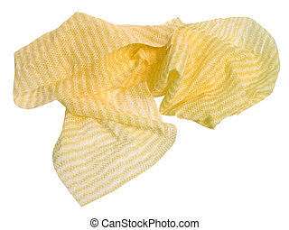 Wet Dish Rag - A wet and used pale yellow multi-purpose...