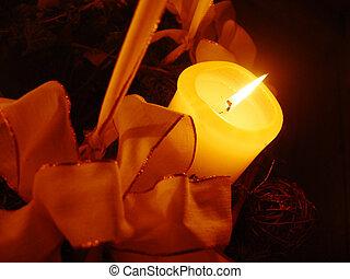 christmas candle - xmas decoration