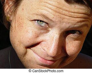 freckles - woman's portrait