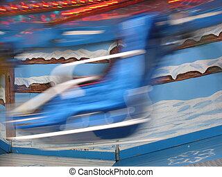 Merry go round blur