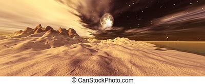 Tusken Moon - Digital created fantasy scene