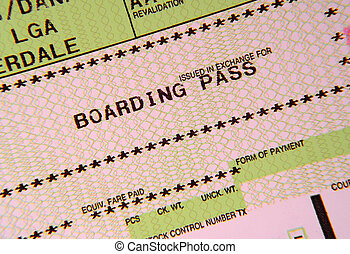 Boarding Pass - Photo of a Boarding Pass