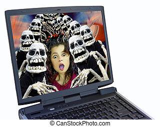 computador portatil,  Halloween
