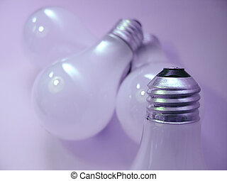 Bulbs - 4 white, matte light bulbs Focus on tip of the light...