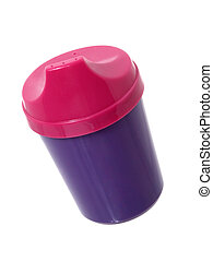 Toddler Juice Cup - Pink and Purple toddler juice cup...