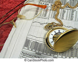 Market Timing 3 - Photo of Newspaper, Watch and Glasses