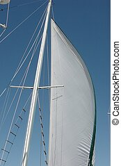 Set Sail - Setting the fore sail on a two masted Ketch and...