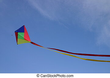 Kite I - A flying kite