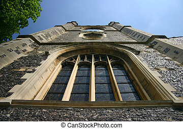 clock tower - view of church clock tower in Henley on...
