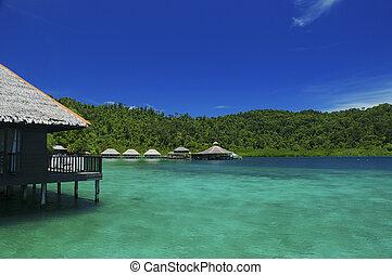 houses on water - Gayana Island Resort, Sabah Malaysia