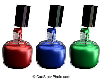 Nailpolish 2 - My 3D rendering of 3 bottles of nail polish.