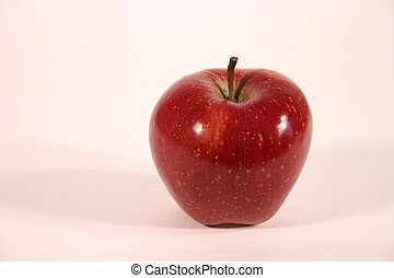 Red Apple III - Single red apple against white background.