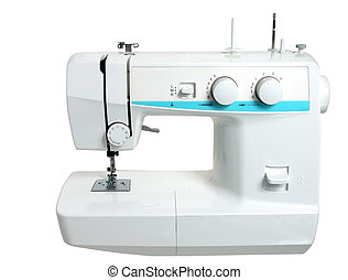 Sewing Machine - Front view of a modern electric sewing...